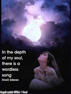 In the depth of my soul ...#Kahili_Gibran #quote