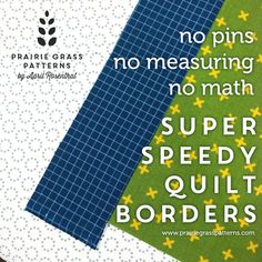 A quick quilting tip to adding speedy borders to a quilt.