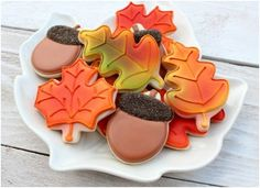 Beautiful fall cookies