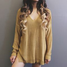 Betty Oversized Sweater (Mustard)