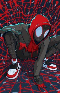 Spider-Man: Into the Spider-Verse Fan Art - Marvel Comics Spiderman Kunst, Black Spiderman, Spiderman Spider, Amazing Spiderman, Marvel Comics, Heros Comics, Marvel Art, Marvel Heroes, Ms Marvel
