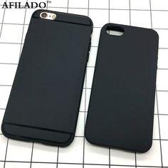 패션 간단한 블랙 화이트 매트 소프트 tpu 슬림 다시 커버 apple iphone 6 6 s 5 5 s se 전화 케이스 실리콘 쉘 피부 카파
