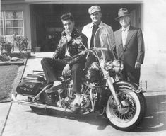 Elvis and his new Harley, 1956