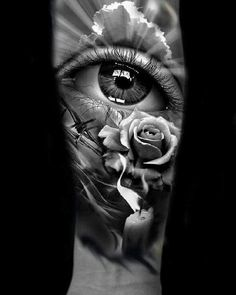 Kerky - Famous Last Words Forarm Tattoos, Forearm Sleeve Tattoos, Rose Tattoos, Leg Tattoos, Body Art Tattoos, Future Tattoos, Tattoos For Guys, Catrina Tattoo, Bild Tattoos
