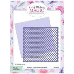 Card Making Magic Die Set Diamond Trellis | 6x6 Collection by Christina Griffiths