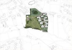 This Invited Competition design proposal for a cluster of new homes in the historic village of Lympstone, Devon is informed by the area's distinctive topography. Devon, Proposal, City Photo, New Homes, Projects, Houses, Log Projects, Homes, Blue Prints