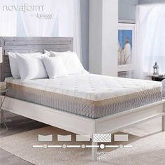 Costco Novaform 12 Bella Venta Queen Gel Memory Foam Mattress