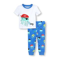 Energetic Fire Engine Fashion Baby Pajamas Clothes Suit Summer Boys Short Sleeve T-shirts Pants 100% Cotton Toddler Sleepwear Pjs Tops Pajama Sets