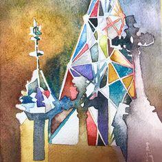 2015 Nancy Murphree Davis nmdART.com Watercolor Art, Paper Art, Artwork, Instagram, Work Of Art, Watercolor Painting, Papercraft, Watercolour