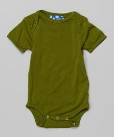 Look at this #zulilyfind! Moss Ruffle Bodysuit - Infant #zulilyfinds