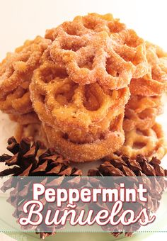 Peppermint Buñelos - An Easy Homemade Traditional Mexican Holiday Recipe with a flavorful twist. Growing Up Blackxican