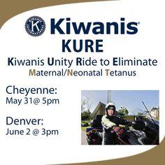 Kiwanis Unity Ride to Eliminate Maternal/Neonatal Tetanus.