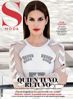 Fashion Foie Gras: Cindy Crawford covers S Moda Spain June 2012