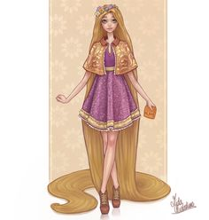 Rapunzel! OK I don't even know what happened on my last post of Tiana but THANK YOU for the love! Hi new followers! :)