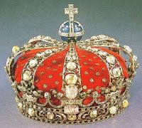 """A small """"Queen Victoria style"""" coronet made for the use of a queen. (Sweden)"""