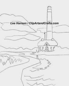 Make art not war! New design sketch for Adult Coloring Books &  Designs: Let's Paint a Lighthouse Scene