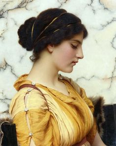 Sabinella Artwork By John William Godward Oil Painting & Art Prints On Canvas For Sale John William Godward, Classic Paintings, Old Paintings, Beautiful Paintings, Portrait Art, Portraits, Pre Raphaelite, Traditional Paintings, Classical Art