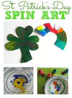 St.Patrick's Day Spin art for kids