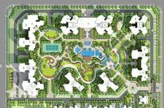 Site planning and landscape - Architektur Architecture Durable, Landscape Architecture Drawing, Landscape Design Plans, Concept Architecture, Ancient Architecture, Sustainable Architecture, Modern Architecture, Site Plan Rendering, Site Plan Drawing