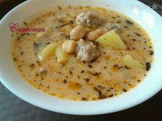 Výborná turecká jogurtová polievka s cícerom a malými köfte guľkami :-)