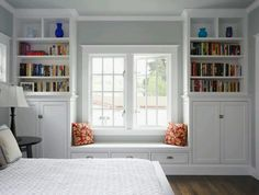 Shelves around window. I really want this in our bedroom