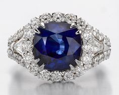 Christopher Designs Sapphire and Diamond Ring (looks like an eye to me!)