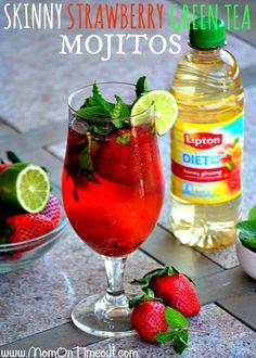 Skinny-Strawberry-Lipton-Green-Tea-Mojitos-Recipe
