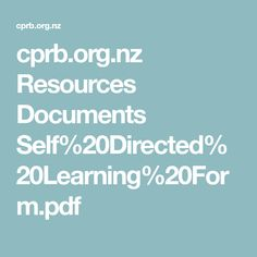 cprb.org.nz Resources Documents Self%20Directed%20Learning%20Form.pdf