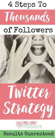 A Twitter strategy that works! 4 Twitter tips will guarantee you grow your followers and increase Twitter interaction. This is a proven Twitter strategy that gives real results. And now I get paid to tweet! I promise you will see results following this Twitter strategy.