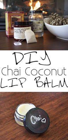 Easy DIY Lip Balm Recipe with yummy chai & coconut oil!