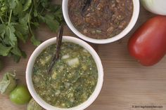 Mexican Green & Red Salsa - Free Paleo Recipes and More. Get the recipe at BigChinKitchen.com