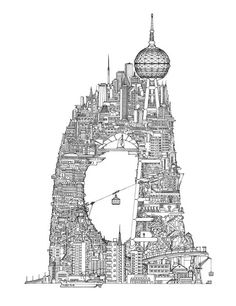 Tower Series No1. - Drawing by Toby Melville-Brown