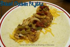 Fantastical Sharing of Recipes: Baked Chicken Fajitas Mexican Dishes, Mexican Food Recipes, Yummy Recipes, Yummy Food, Ethnic Recipes, Baked Chicken Fajitas, Tex Mex, Chicken Recipes, Food Ideas
