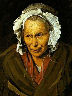 Théodore Géricault(1791–1824)La Folle, ou la Monomane de l'envie A Woman Suffering from Obsessive Envy  Deutsch:La monomane de l'envie, Die Irre  Alienata con monomania dell'invidia
