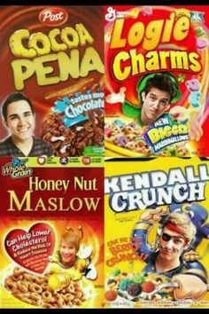 Big Time Rush..hahahahahaha Kendall crunch captain crunch is the best cereal ever
