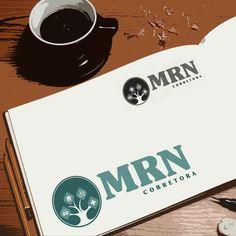 Criação de logotipo para MRN Corretora por Foco Design & Gráfica.