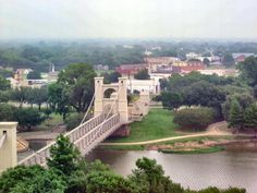Waco, Texas - Suspension Bridge across the Brazos River