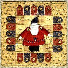 ~ Penny Santa Appliqued Wall Quilt