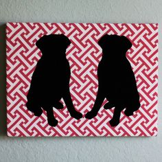 black lab silhouettes--add to Cecily's fabric silhouettes!