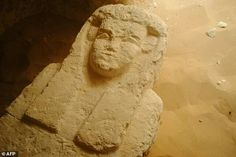 Egypt archaeologists discovered three ancient tombs containing sarcophagi in the south of the country. One of the tombs, which was reached through a shaft carved in rock, contained four sarcophagi each sculpted to depict a human face