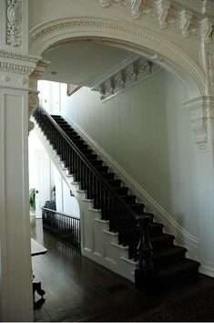 Stair hall, Nottaway Plantation, White Castle, Louisiana, 1859.