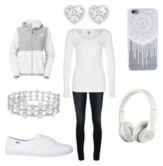 """Untitled #122"" by a-hidden-secret ❤ liked on Polyvore featuring Frame Denim, G-Star, The North Face, Kiki mcdonough and Beats by Dr. Dre"
