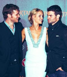 My favorite trio from The Vampire Diaries. Joseph with Claire Holt & Daniel Gillies, his onscreen siblings.