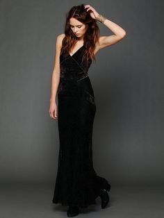 Free People Phantom Burnout Lace Maxi at Free People Clothing Boutique so pretty...but why weigh it down with boots? heavy enough on its own!