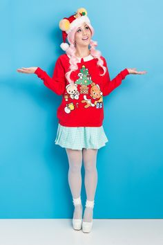 Rilakkuma Christmas Sweatshirt!  http://www.japanla.com/collections/new-arrivals/products/rilakkuma-christmas-sweatshirt