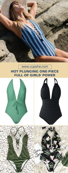 Start to shine~ These flattery one-pieces are chic must-have of the year! Your perfect option for beach vacation! Listen! The sea is calling! Get our fantastic one-pieces ready with hot plunging design at Cupshe.com ! FREE shipping~ Shop Now!