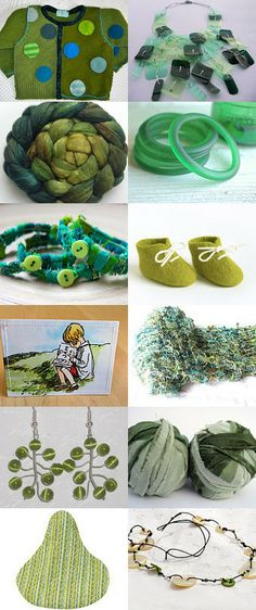 green is the new green by ann mitchell // recycleparty upcycled repurposed recycled ecofriendly