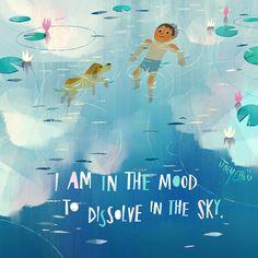 """I am in the mood to dissolve in the sky."" -Virginia woolf  #virginiawoolf  #joeychou #joeychouart"