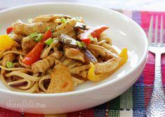 Cajun kip pasta, goed als je aan het lijnen bent!