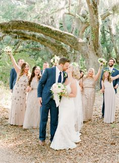 Magnolia Plantation | Featured on Southern Weddings | Photos by The Happy Bloom Fine Art Photography | www.thehappybloom.com | Spring Wedding Ideas | Southern Weddings | Charleston Wedding | Wedding Posing | Zero George | Downtown Charleston
